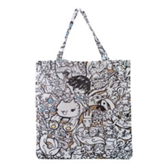 Cute Doodles Grocery Tote Bag by Nexatart