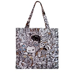 Cute Doodles Zipper Grocery Tote Bag by Nexatart
