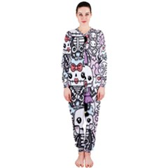 Kawaii Graffiti And Cute Doodles Onepiece Jumpsuit (ladies)  by Nexatart