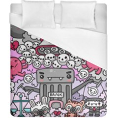 0 Sad War Kawaii Doodle Duvet Cover (california King Size) by Nexatart