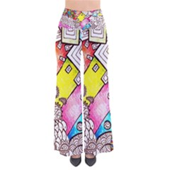 Beautiful Colorful Doodle Pants by Nexatart