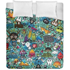 Colorful Drawings Pattern Duvet Cover Double Side (california King Size) by Nexatart