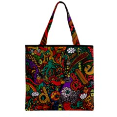 Monsters Colorful Doodle Grocery Tote Bag