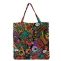 Monsters Colorful Doodle Grocery Tote Bag View1