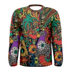 Monsters Colorful Doodle Men s Long Sleeve Tee