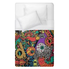 Monsters Colorful Doodle Duvet Cover (single Size) by Nexatart