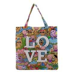 Doodle Art Love Doodles Grocery Tote Bag by Nexatart