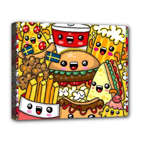 Cute Food Wallpaper Picture Deluxe Canvas 20  X 16   by Nexatart