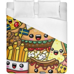Cute Food Wallpaper Picture Duvet Cover (california King Size) by Nexatart