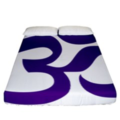 Hindu Om Symbol (purple) Fitted Sheet (california King Size) by abbeyz71