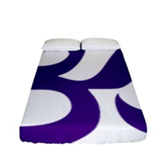 Hindu Om Symbol (purple) Fitted Sheet (full/ Double Size) by abbeyz71
