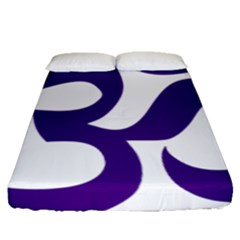 Hindu Om Symbol (purple) Fitted Sheet (queen Size) by abbeyz71