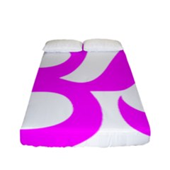 Hindu Om Symbol (magenta) Fitted Sheet (full/ Double Size) by abbeyz71
