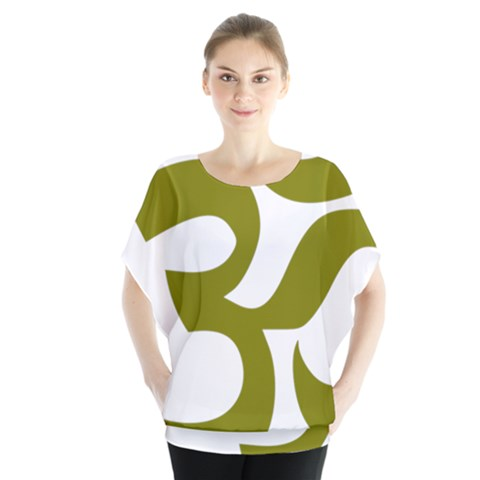 Hindi Om Symbol (olive) Blouse by abbeyz71
