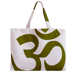 Hindi Om Symbol (olive) Medium Zipper Tote Bag by abbeyz71