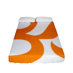 Hindu Om Symbol (orange) Fitted Sheet (full/ Double Size) by abbeyz71