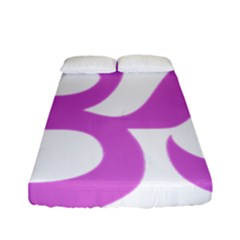 Hindu Om Symbol (bright Purple) Fitted Sheet (full/ Double Size) by abbeyz71