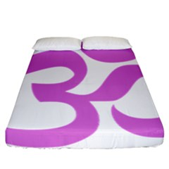 Hindu Om Symbol (bright Purple) Fitted Sheet (california King Size) by abbeyz71