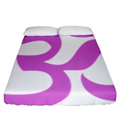 Hindu Om Symbol (bright Purple) Fitted Sheet (queen Size) by abbeyz71