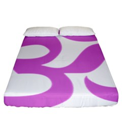 Hindu Om Symbol (bright Purple) Fitted Sheet (king Size) by abbeyz71