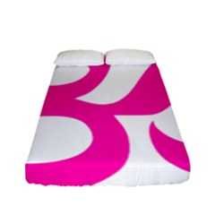 Hindu Om Symbol (pink) Fitted Sheet (full/ Double Size) by abbeyz71