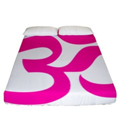 Hindu Om Symbol (pink) Fitted Sheet (california King Size) by abbeyz71
