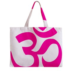 Hindu Om Symbol (pink) Zipper Mini Tote Bag by abbeyz71