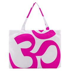Hindu Om Symbol (pink) Medium Zipper Tote Bag by abbeyz71