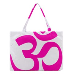 Hindu Om Symbol (pink) Medium Tote Bag by abbeyz71