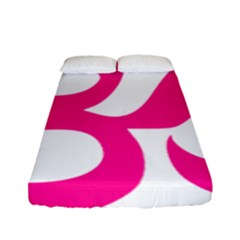 Hindu Om Symbol (deep Pink) Fitted Sheet (full/ Double Size) by abbeyz71