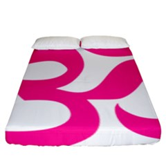 Hindu Om Symbol (deep Pink) Fitted Sheet (king Size) by abbeyz71