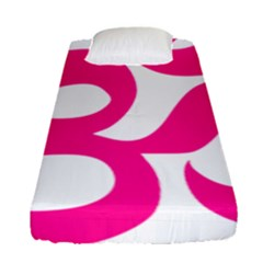 Hindu Om Symbol (deep Pink) Fitted Sheet (single Size) by abbeyz71