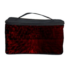 Box Lights Red Plaid Cosmetic Storage Case by Mariart