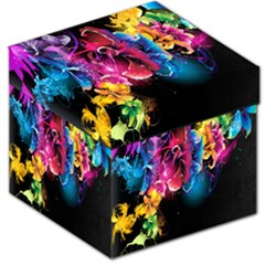 Abstract Patterns Lines Colors Flowers Floral Butterfly Storage Stool 12   by Mariart