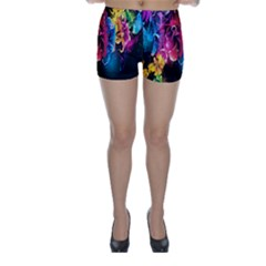 Abstract Patterns Lines Colors Flowers Floral Butterfly Skinny Shorts by Mariart
