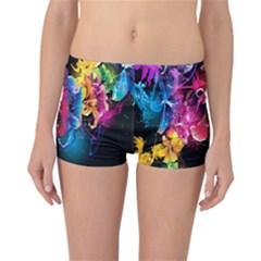 Abstract Patterns Lines Colors Flowers Floral Butterfly Reversible Bikini Bottoms by Mariart
