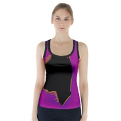 Buffalo Fractal Black Purple Space Racer Back Sports Top by Mariart