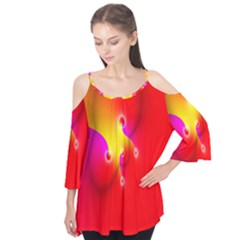 Complex Orange Red Pink Hole Yellow Flutter Tees by Mariart