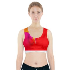Complex Orange Red Pink Hole Yellow Sports Bra With Pocket by Mariart