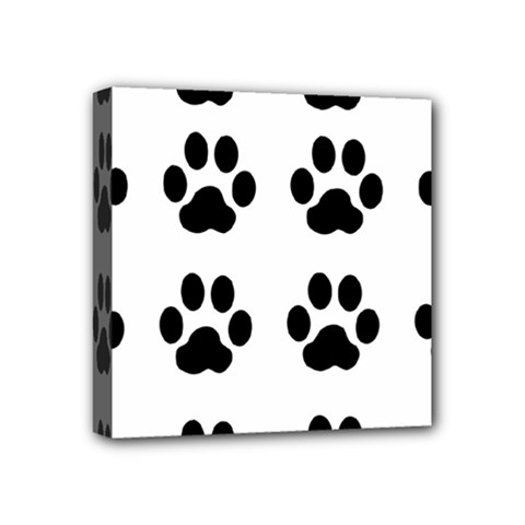 Claw Black Foot Chat Paw Animals Mini Canvas 4  X 4  by Mariart