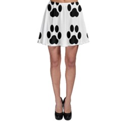 Claw Black Foot Chat Paw Animals Skater Skirt