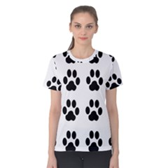 Claw Black Foot Chat Paw Animals Women s Cotton Tee