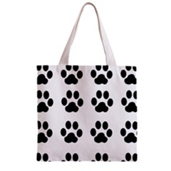 Claw Black Foot Chat Paw Animals Zipper Grocery Tote Bag by Mariart