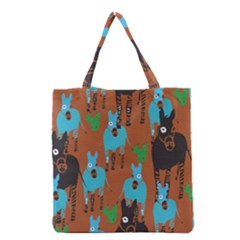 Zebra Horse Animals Grocery Tote Bag by Mariart