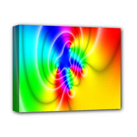 Complex Orange Red Pink Hole Yellow Green Blue Deluxe Canvas 14  X 11  by Mariart