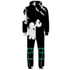 Illustration Cloud Line White Green Black Spot Polka Hooded Jumpsuit (men)  by Mariart