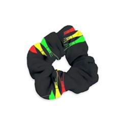 Lamp Colors Green Yellow Red Black Velvet Scrunchie by Mariart