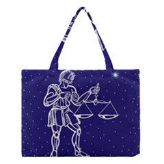 Libra Zodiac Star Medium Tote Bag by Mariart