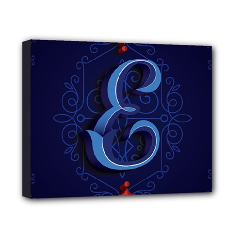 Marquis Love Dope Lettering Blue Red Alphabet E Canvas 10  X 8  by Mariart