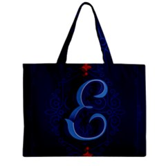 Marquis Love Dope Lettering Blue Red Alphabet E Zipper Mini Tote Bag by Mariart
